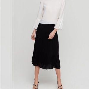 Babaton black pleat skirt